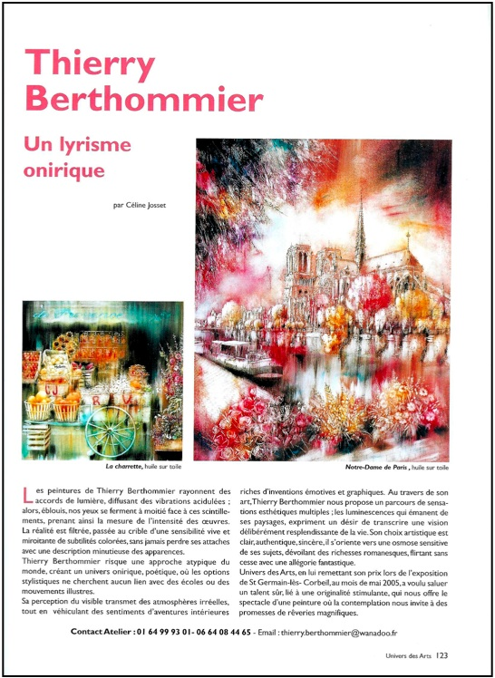 Articles Univers des arts